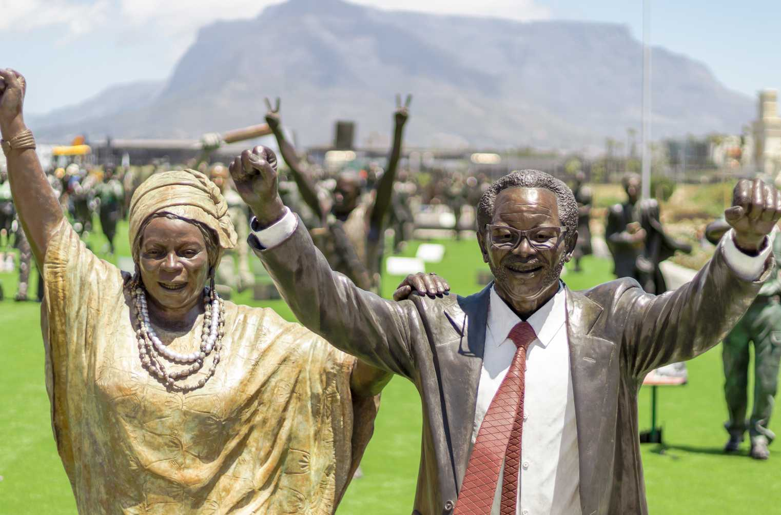 Statues of adelaide and oliver reginald tambo